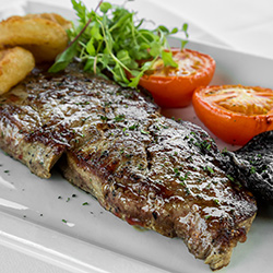 Succulent steaks done as you like them